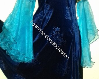 Dress medieval Princess, fairy tale, gorgeous velvet.