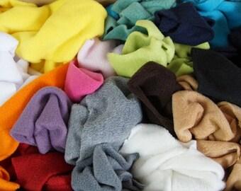 Bag of Fleece Fabric Scraps - Scrap Pack, Fleece Off Cuts, Fabric Remnants