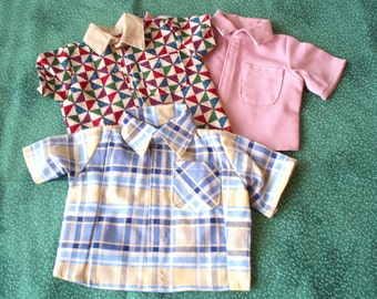 Doll Clothes  Doll Summer Shirts fits 18 inch doll, Handmade Doll Collar Shirts
