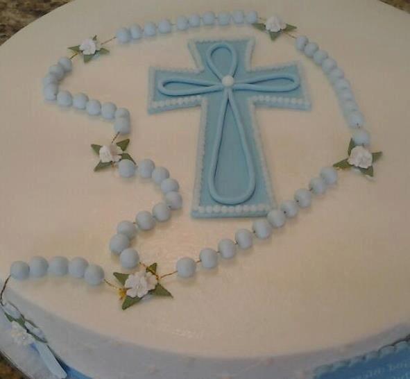 Baptism Cake Topper Baby Boy Baptism Favor Baptism Rosary