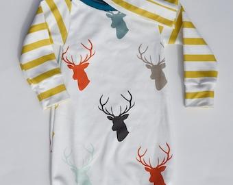 baby gown, baby boy, baby boy gown, newborn sleep sack, newborn boy gown, sleep sack, baby sleep sack
