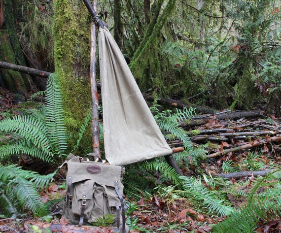 Medium image of pre order pnwbushcraft waxed canvas ground cloth hammock chair bushcraft outdoor gear camping hiking and adventure