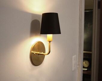 Brass sconce • Dean • Transitional wall lighting • Hollywood Regency sconce • Modern elegant light