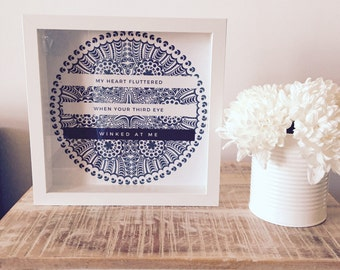 Third Eye Love Quote | Mandala Square Print | Typography Art | Inspirational Quote | Spiritual Print