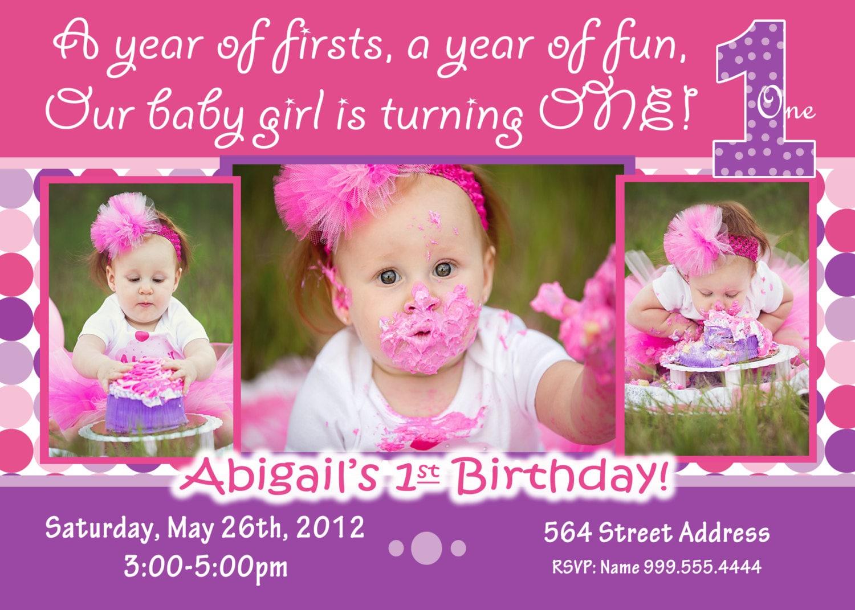 1st birthday girl invitation 1st birthday girl invite zoom stopboris Choice Image