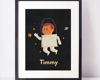 Custom Astronaut Kid (YOUR KIDS NAME!)