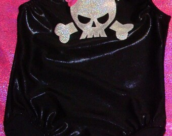 Skull leotard for babies, toddlers girls and women, choose your colors
