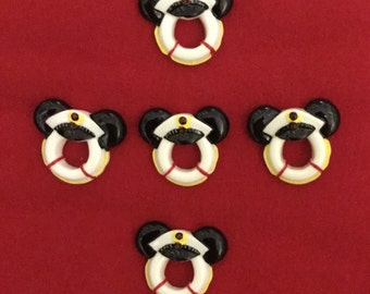 Set of 5 Mickey Mouse Buoy Resins