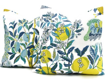 Citrus Garden Decorative Pillow Cover Pool  18x18, 20x20, 22x22, Eurosham or Lumbar Pillow, Schumacher Josef Frank pillow cover, pool
