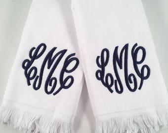Monogram Fingertip Towels - Set of 2 SALE