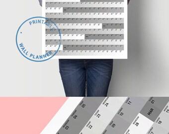 Monthly Calendar 2018 Planner Minimalist Calendar Daily Organizer Printable Calendar Weekly Planner Office Calendar Weekly Schedule