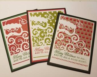 Christmas Card, Homemade Greeting Card, Merry Christmas Card, Holiday Greetings, Holiday Wishes, Christmas Greetings, Santa's Beard