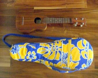 Hawaiian Ukulele Bag/Case for Soprano ukulele - Handmade in Hawaii - Hawaiian fabric