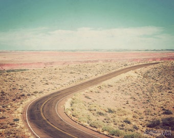Road Less Traveled - landscape photograph, Arizona photo, Southwestern art, desert, retro photography, Western decor