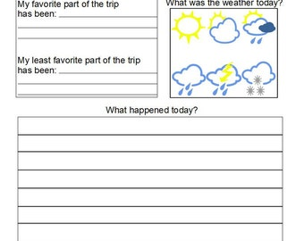 Travel PDF games and journal for road trips, traveling, home school, and fun