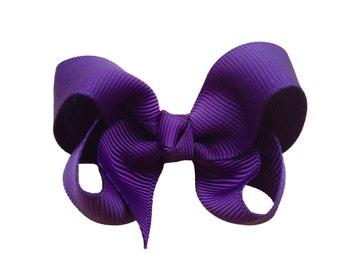 Dark purple hair bow - hair bow, hair bows, bows, baby bows, baby hair bows, pigtail bows, hair bows for girls, girls bows, toddler bows