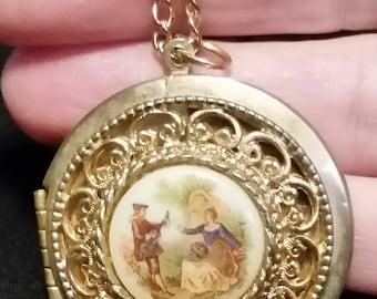 Limoges Vintage Locket Necklace