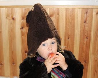 Kids sheep fur hat Kids sheepskin hat Natural kids fur hat Unisex kids fur hat Soviet vintage childs fur hat Kids vintage winter hat