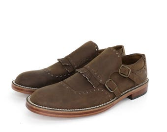 Monk Straps Shoes in Brown