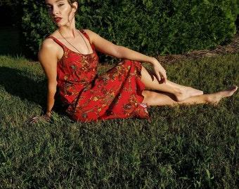 Vintage 90's Dress Clueless Retro Chic Summer Hippie 1990s Festival Beautiful