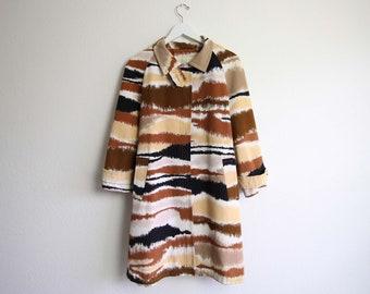 VINTAGE Trenchcoat 1960er Jahre Mod Jacke mit Gürtel Medium