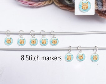 Stitch Marker - Owl Stitch Marker - Knitting Supplies - Gifts for Knitters  - 8  Owl Knitting Markers (SMOS1)