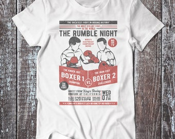 The Rumble Night , Boxing Tee , Boxing Club T-shirt , Sport Shirt