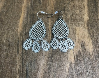 Silver Rain Drop Earrings