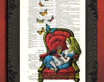 Alice in wonderland art alice in wonderland illustration alice in wonderland home decor