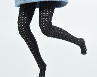 Black fishnet tights leggings for Pullip doll