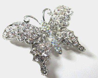 Crystal 'Star Rain' Brooch (Silver Tone) cGRurFj