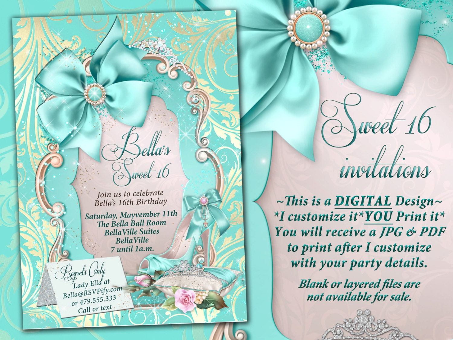 Sweet 16 Invitations Quinceanera Mis Quince Anos Birthday