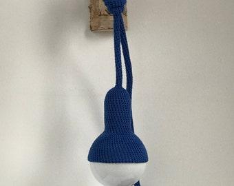 Lampe, plug in pendant lamp in royal blue