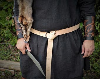 Norse Runic Viking Ring Belt with HandForged Buckle by Josh Weston - Elder Futhark - Asatru Heathen Pagan Magickal