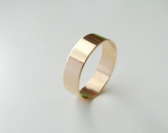 Mens Wedding Ring, Wedding Bands, Unisex Band Ring, 14K Gold, Mens Wedding Band, 14K Gold Band Ring, Wedding Band Ring For Her