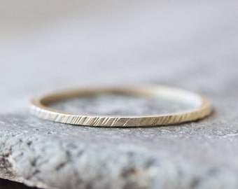 White texture - stacking ring, Sterling silver stackable ring