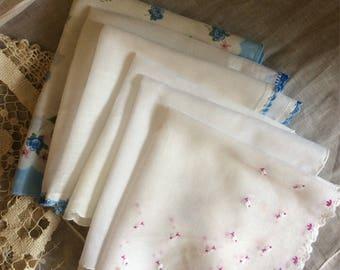 Handkerchiefs Six Vintage Hankies