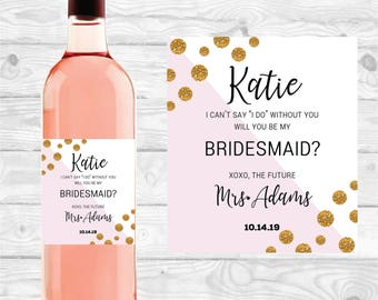 Wine Label, bridesmaid gifts, weddings