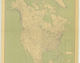 North America Map 1912