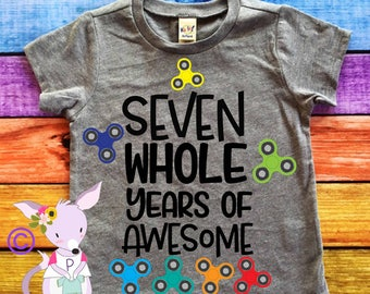 Birthday Shirt SPINNER birthday number Any Age birthday shirt Two Three Four FIDGET Spinner party shirt SPINNER birthday shirt Birthday