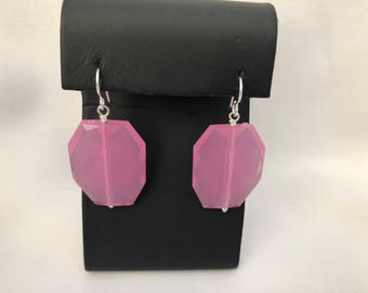 Pink Earrings, Pink Statement earrings, Pink Dangle Earrings, Bubblegum Pink Earrings Everyday Earrings, Bridal Earrings, Statement earrings