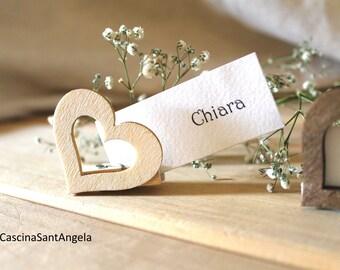 Segnaposto matrimonio Segnatavoli in Legno chiudipacco rustic country shabby chic