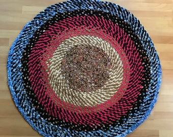 Colorful Handmade Braided Rag Rug
