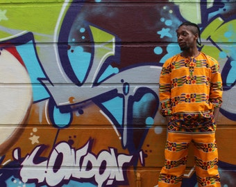 Mens African Suit ankara African Two Piece in Wax Print Clothing African Clothing Mens African Fashion African Print Shirt and Trousers