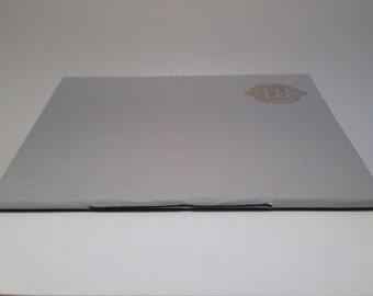 Handmade notebook, blank notepad, sewn spine blank journal, handprinted notebook