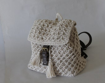 Eco leather back pack