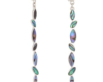 Dangling Pearl abalone silver Sterling-women earrings