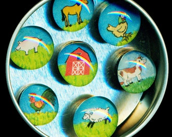 Farm Magnet Set