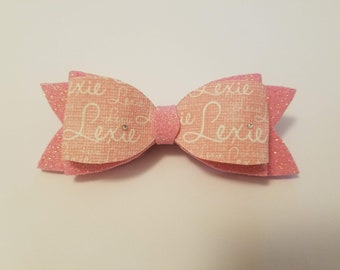 Personalized Hair bow/clip Name /pretty/girls