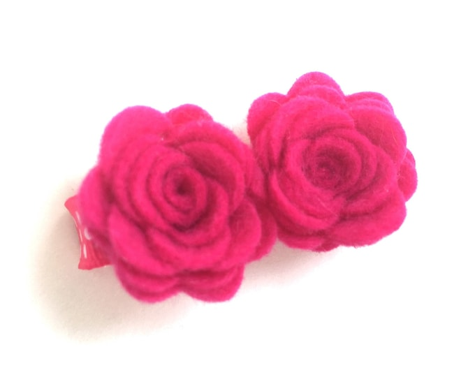 Flower hair clip - felt hair clip, hair bows, hair bow, bows, hair clips, hair bows for girls, baby bows, baby hair clips, hairbows, felt